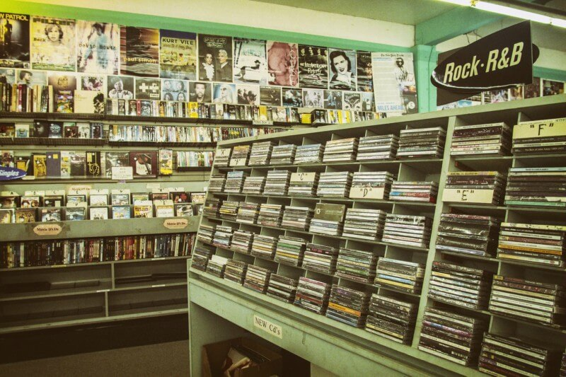 a CD store in California, USA, reminds us that music and DVD stores may be a thing of the past as streaming picks up speed